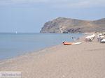 Het grote strand van Skala Eressos foto 2