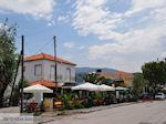 Cafetaria aan het Anaxos-strand