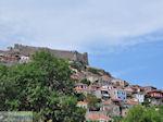 Molyvos kasteel op de top van de heuvel